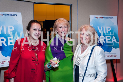 Barbara Bowie Whitman, Lola Reinsch, Ginny Sniegon. Photo by Tony Powell. 2016 Out of the Shadows Dinner. Reagan Building. September 28, 2016