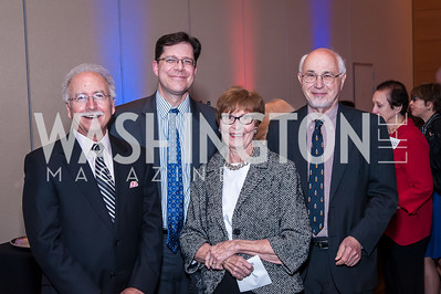 Mike King, Ian Kremer, Jane and Gary Filerman. Photo by Tony Powell. 2016 Out of the Shadows Dinner. Reagan Building. September 28, 2016