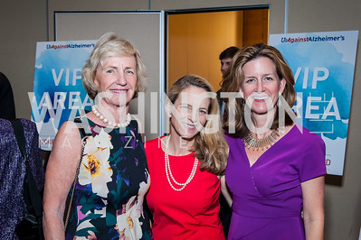 Mary O'Connor, Maureen O'Connor Witter, Cici Fulton. Photo by Tony Powell. 2016 Out of the Shadows Dinner. Reagan Building. September 28, 2016