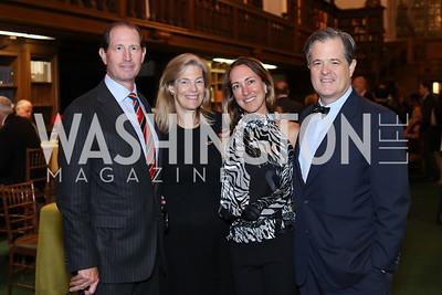 Michael Gewirz, Nancy Sidamon-Eristoff, Cleo Gewirz, Simon Sidamon-Eristoff. Photo by Tony Powell. 2016 Pen Faulkner Gala. September 26, 2016