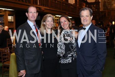 Michael Gewirz, Nancy Sidamon-Eristoff, Cleo Gewirz, Simon Sidamon-Eristoff. Photo by Tony Powell. 2016 Pen Faulkner Gala. September 26, 2016