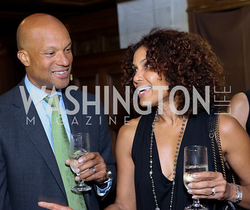 Eric Mann and Dr. Robynne Chutkan. Photo by Tony Powell. 2016 Pen Faulkner Gala. September 26, 2016