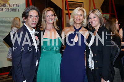 Septime Webre, Katharine Weymouth, Sheila Walker, Sandi McCoy. Photo by Tony Powell. 2016 Pen Faulkner Gala. September 26, 2016