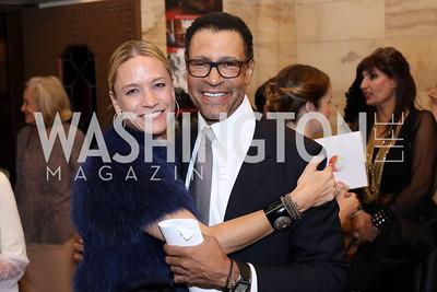 Kirsten Pollin, Darryl Carter. Photo by Tony Powell. 2016 Pen Faulkner Gala. September 26, 2016