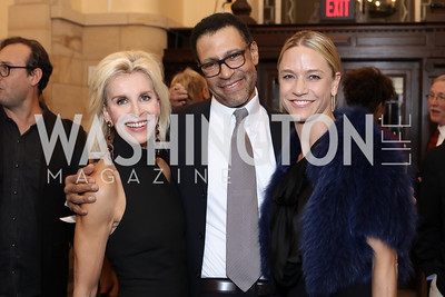 Mary Haft, Darryl Carter, Kirsten Pollin. Photo by Tony Powell. 2016 Pen Faulkner Gala. September 26, 2016