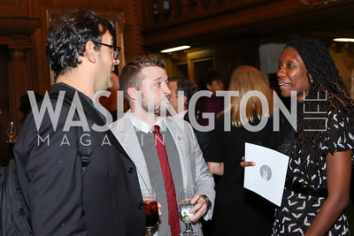 Writer Charles Bock, Charles Paret, Writer Nicole Dennis-Benn. Photo by Tony Powell. 2016 Pen Faulkner Gala. September 26, 2016