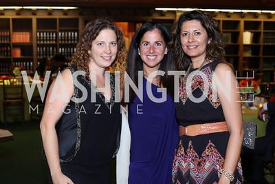 Sara Faulman, Molly Elkin, Aamra Ahmad. Photo by Tony Powell. 2016 Pen Faulkner Gala. September 26, 2016