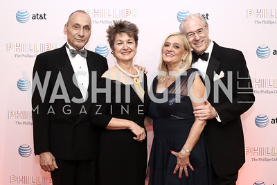 Thomas Krähenbühl and Dorothy Kosinski, Trish and George Vradenburg. Photo by Tony Powell. 2016 Phillip's Collection Gala. May 13, 2016