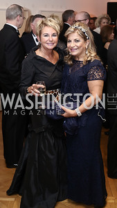 Elaine Cole, Annie Totah. Photo by Tony Powell. 2016 Phillip's Collection Gala. May 13, 2016