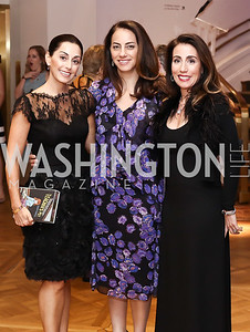 Lindsay Ellenbogen, Jessica Lang, Elizabeth Smith. Photo by Tony Powell. 2016 Phillip's Collection Gala. May 13, 2016