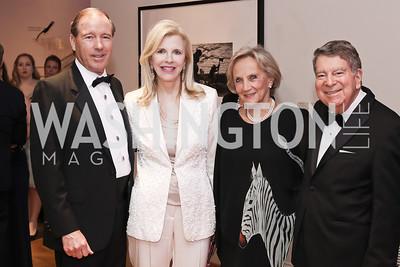 Sen. Tom Udall, Jane Cafritz, Jill Udall, Calvin Cafritz. Photo by Tony Powell. 2016 Phillip's Collection Gala. May 13, 2016
