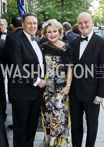 Arturo Brillembourg, Hilda Ochoa Brillembourg, Spain Amb. Ramon Gil-Casares. Photo by Tony Powell. 2016 Phillip's Collection Gala. May 13, 2016