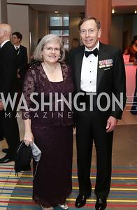 Holly Petraeus, Gen. David Patraeus. Photo by Tony Powell. 2016 Phillip's Collection Gala. May 13, 2016