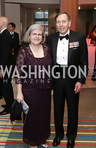 Holly Petraeus, Gen. David Patraeus. Photo by Tony Powell. 2016 Phillip's Collection Gala. May 13, 2016