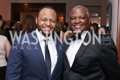 Rush Baker and father Prince George's County Executive Rushern Baker III. Photo by Tony Powell. 2016 Phillip's Collection Gala. May 13, 2016
