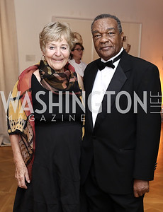Lynne Horning, David Driskell. Photo by Tony Powell. 2016 Phillip's Collection Gala. May 13, 2016