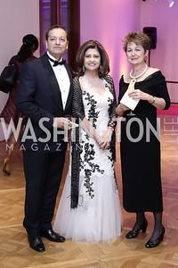 Sunny and Kay Kapoor, Dorothy Kosinski. Photo by Tony Powell. 2016 Phillip's Collection Gala. May 13, 2016
