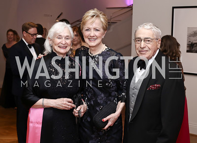 Irene Wurtzel, Ann Stock, Alan Wurtzel. Photo by Tony Powell. 2016 Phillip's Collection Gala. May 13, 2016