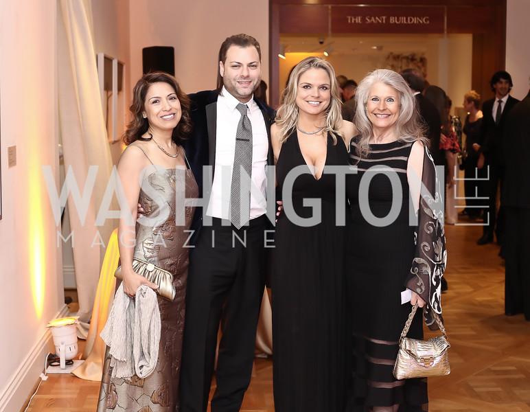 Diana Villarreal, Jason Kampf, Crystal Gaddis Boyd, Barbara Hawthorn. Photo by Tony Powell. 2016 Phillip's Collection Gala. May 13, 2016