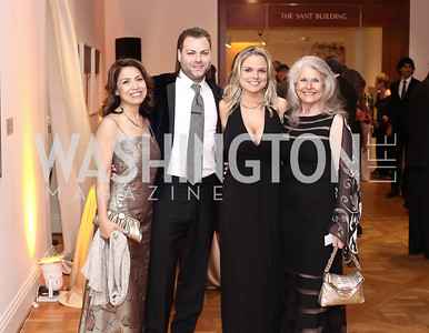 Diana Villarreal, Jason Kampf, Crystal Gaddis Boyd, Barbara Hawthorn. Photo by Tony Powell. 2016 Phillip's Collection Gala. May 13, 2016