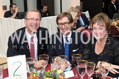 Neil Bush, Germany Amb. Peter Wittig, Jean Becker. Photo by Tony Powell. 2016 Points of Light Tribute Awards. Residence of Germany. October 20, 2016