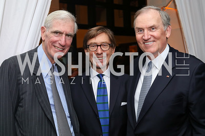 C. Boyden Gray, Germany Amb. Peter Wittig, Amb. Bob Kimmitt. Photo by Tony Powell. 2016 Points of Light Tribute Awards. Residence of Germany. October 20, 2016