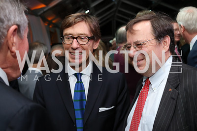 Germany Amb. Peter Wittig, John Schmitz. Photo by Tony Powell. 2016 Points of Light Tribute Awards. Residence of Germany. October 20, 2016