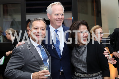 Dan Lennon, Tim and Anita McBride. Photo by Tony Powell. 2016 Points of Light Tribute Awards. Residence of Germany. October 20, 2016
