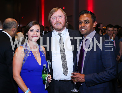 Jen Resick, Bluejacket Beer Director Greg Engert, Sanjeev Williams. Photo by Tony Powell. 2016 RAMMY Awards. Convention Center. June 12, 2016