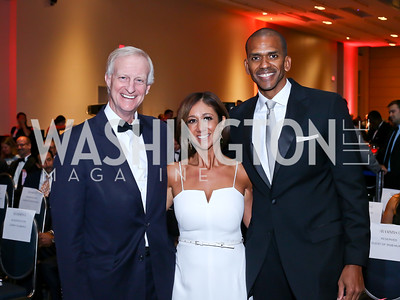 Jack Evans, Kathy Hollinger, Events DC CEO Greg O'Dell. Photo by Tony Powell. 2016 RAMMY Awards. Convention Center. June 12, 2016