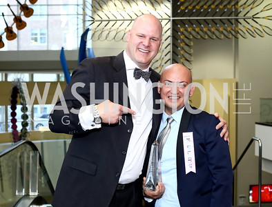 Chef Scott Drewno, Employee of the Year The Source's Jorge Martinez. Photo by Tony Powell. 2016 RAMMY Awards. Convention Center. June 12, 2016