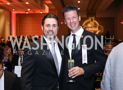 Bayou Bakery David Guas, Belga Cafe Owner Bart Vandaele. Photo by Tony Powell. 2016 RAMMY Awards. Convention Center. June 12, 2016