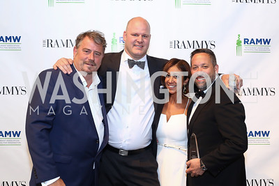 Robert Wiedmaier, Scott Drewno, Kathy Hollinger, Mike Isabella. Photo by Tony Powell. 2016 RAMMY Awards. Convention Center. June 12, 2016