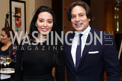Jasmine Zaki, David Tafuri. Photo by Tony Powell. 2016 SEED Kurdistan Gala. Mandarin Oriental. May 19, 2016
