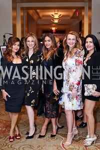 Nareen Dizayee, Nada Dizayee, Lara Dizeyee, Amra Fazlic, Nazgol Fearnow. Photo by Tony Powell. 2016 SEED Kurdistan Gala. Mandarin Oriental. May 19, 2016