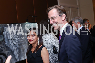Amberin Zaman, Joseph Pennington. Photo by Tony Powell. 2016 SEED Kurdistan Gala. Mandarin Oriental. May 19, 2016