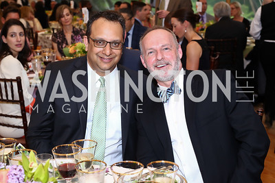 Arvind Manocha and Gideon Malone. Photo by Tony Powell. 2016 S&R Washington Awards Gala. Evermay. June 4, 2016