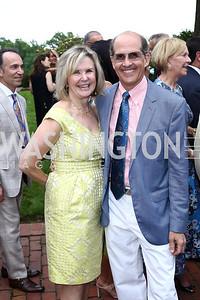 Connie Carter, Gordon Dale. Photo by Tony Powell. 2016 S&R Washington Awards Gala. Evermay. June 4, 2016