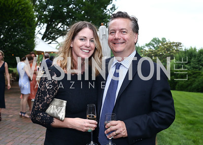Amy Maniatis, Martin Gammon. Photo by Tony Powell. 2016 S&R Washington Awards Gala. Evermay. June 4, 2016