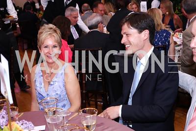 Kris Rohr, Michael Djupstrom. Photo by Tony Powell. 2016 S&R Washington Awards Gala. Evermay. June 4, 2016