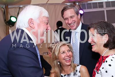 Rick Rolandi, Christiana and Mark Anderson, Nancy Smith. Photo by Tony Powell. 2016 S&R Washington Awards Gala. Evermay. June 4, 2016