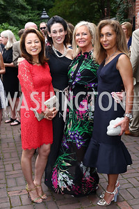 Shigeko Bork, Suzanne Galli, Deborah Sigmund, Gigi Hafizi. Photo by Tony Powell. 2016 S&R Washington Awards Gala. Evermay. June 4, 2016