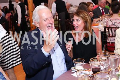 Jack Evans, Erika Schiller. Photo by Tony Powell. 2016 S&R Washington Awards Gala. Evermay. June 4, 2016