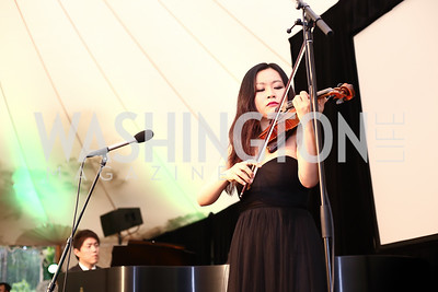 Violinist Luosha Fang. Photo by Tony Powell. 2016 S&R Washington Awards Gala. Evermay. June 4, 2016