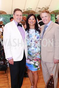 Arturo Brillembourg, Tina Mather, Gary Mather. Photo by Tony Powell. 2016 S&R Washington Awards Gala. Evermay. June 4, 2016