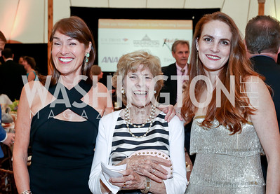 Debra Kraft, Bitsey Folger, Kate Goodall. Photo by Tony Powell. 2016 S&R Washington Awards Gala. Evermay. June 4, 2016