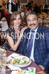 Karina Mallona, Bob Hisaoka. Photo by Tony Powell. 2016 S&R Washington Awards Gala. Evermay. June 4, 2016