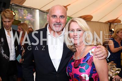 Michael Murphy, Rebecca Sanders. Photo by Tony Powell. 2016 S&R Washington Awards Gala. Evermay. June 4, 2016