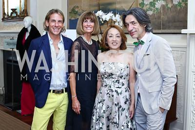 Marc Cipullo, Tammie Collins, Sachiko Kuno, Septime Webre. Photo by Tony Powell. 2016 S&R Washington Awards Gala. Evermay. June 4, 2016