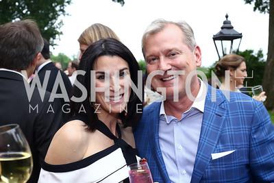 Tracy Bernstein, Mark McFadden. Photo by Tony Powell. 2016 S&R Washington Awards Gala. Evermay. June 4, 2016